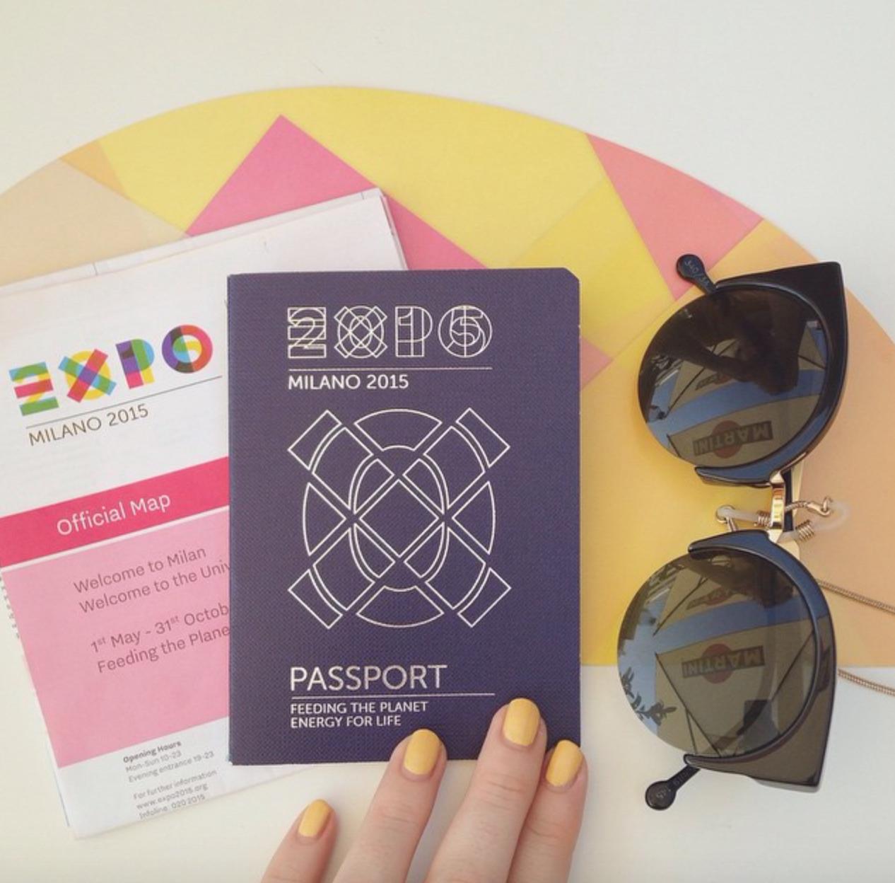 EXPO milano 2015 passport cover