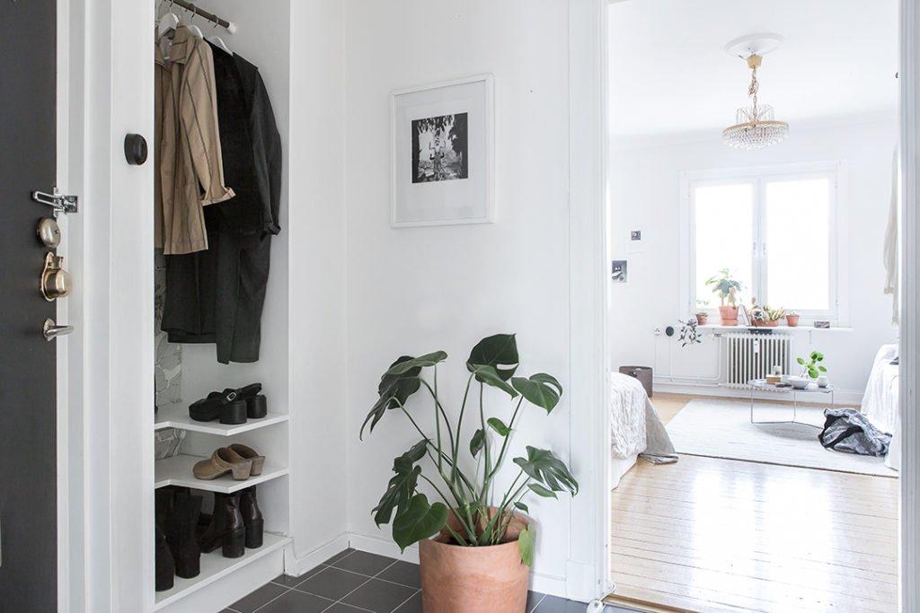 Scandinavian Home With Green Plants