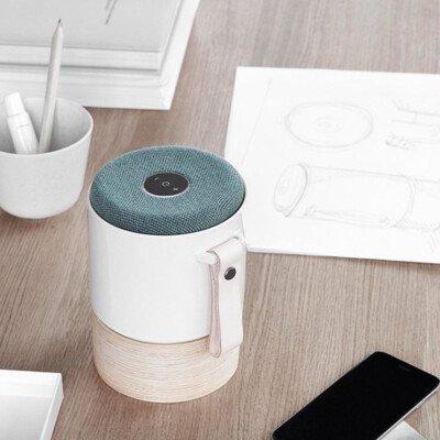 fugato white danish ceramic speaker