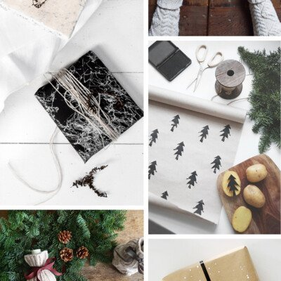 scandinavian diy simple wrapping paper ideas