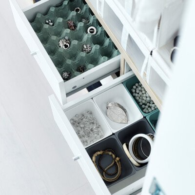 eggcarton drawers reuse home storage scandinavian