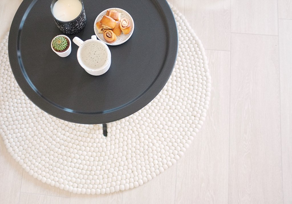 sukhi interior rug table closeup hygge