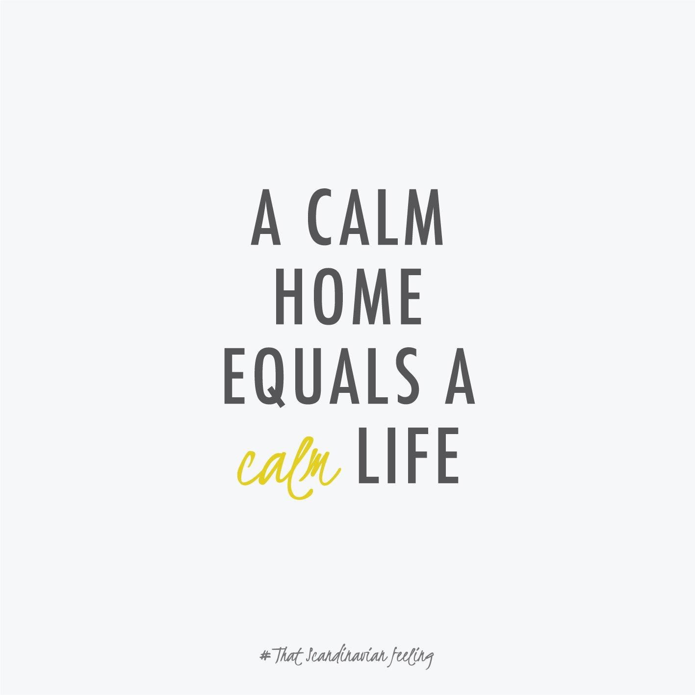 calm home quote minimal scandinavian feeling