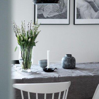 scandinavian feeling cozy candle table