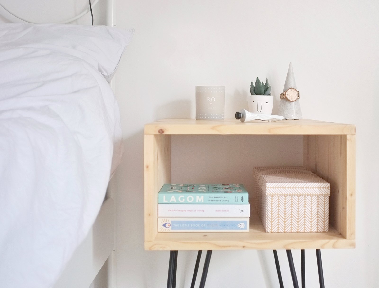 Diy How To Make A Scandinavian Style Nightstand With Hairpin Legs