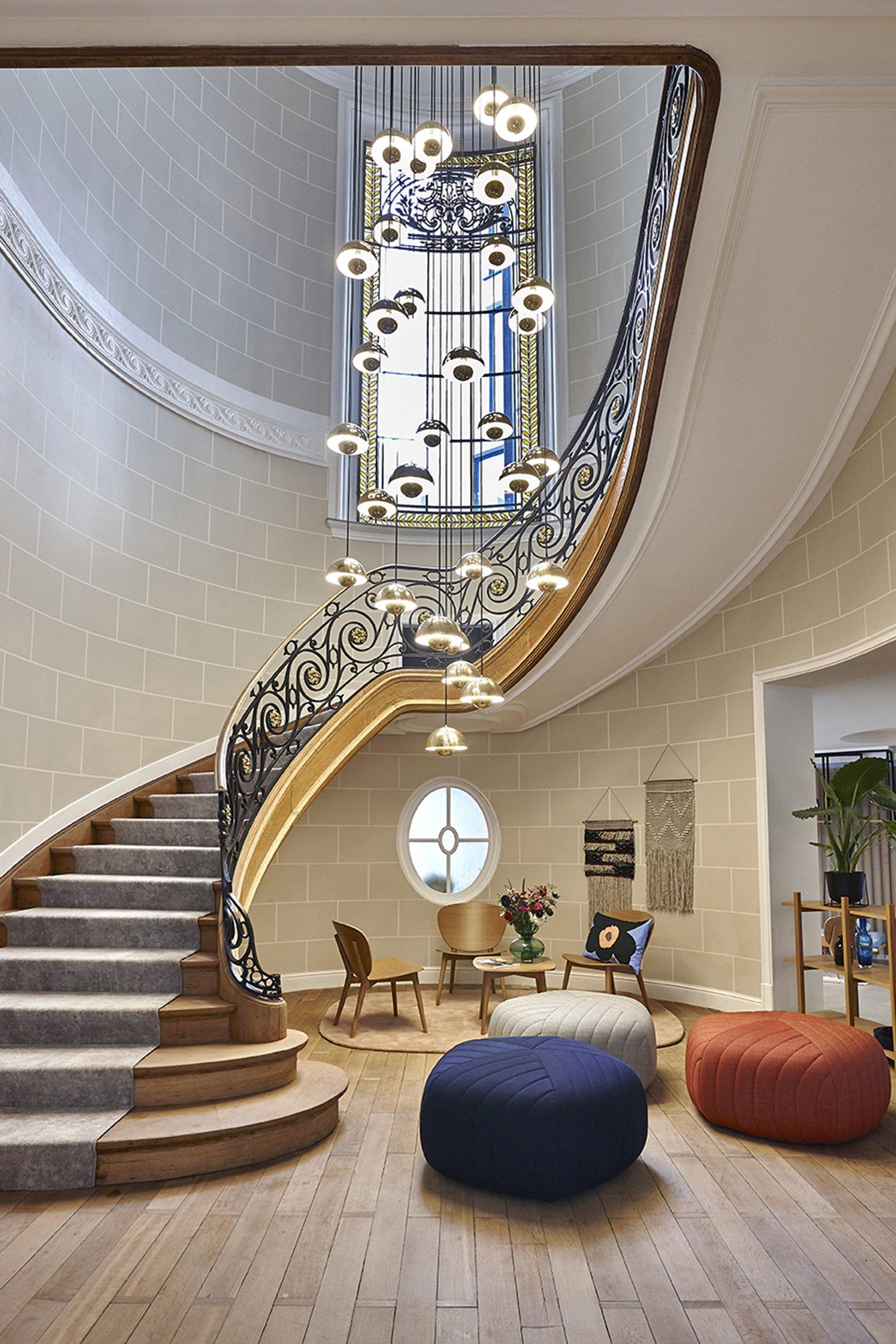 hygge hotel brussels belgium hallway stairs