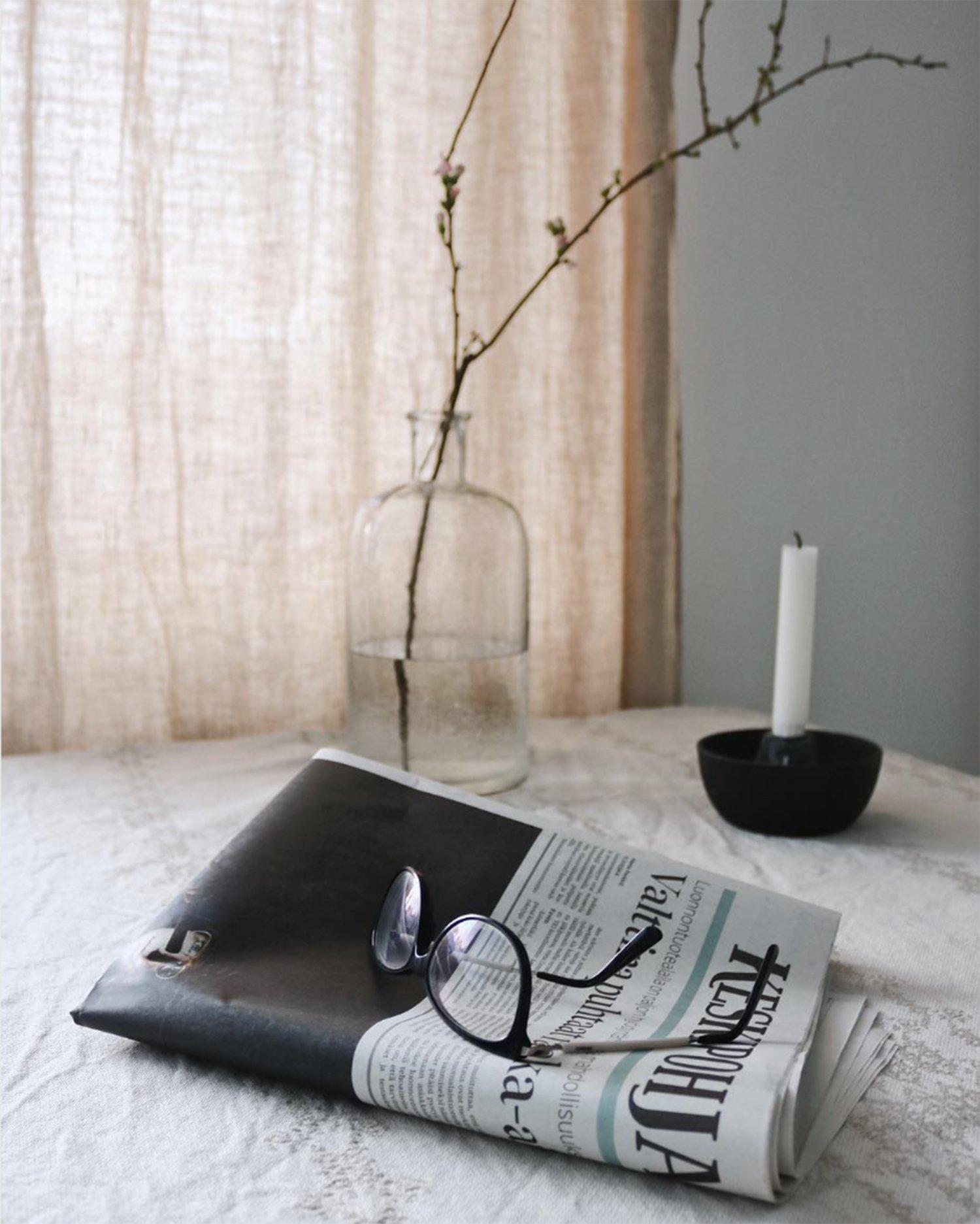 scandinavian feeling cozy candle reading