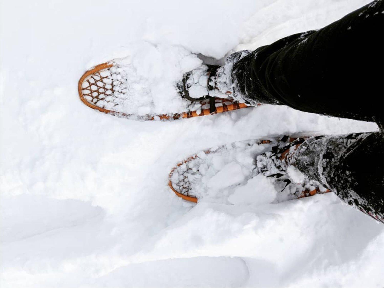 scandinavian feeling snow walk