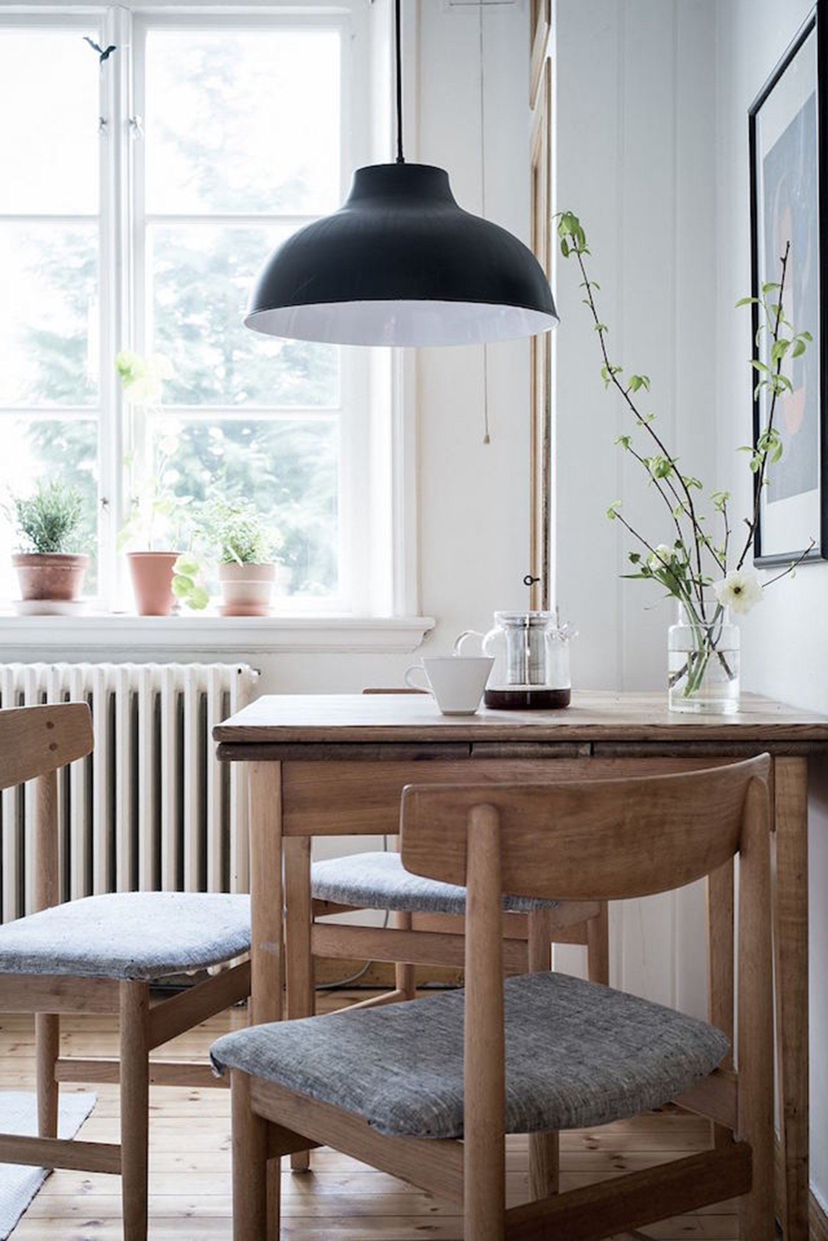 scandinavian feeling cozy vintage furniture