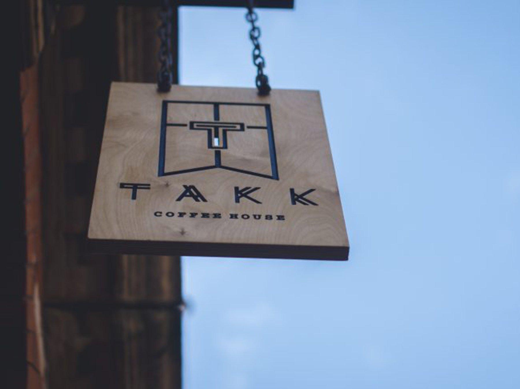 takk cafe coffee nordic sign