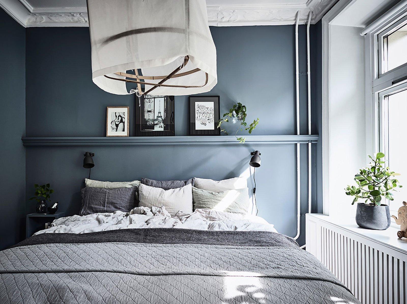 bedroom cozy blue