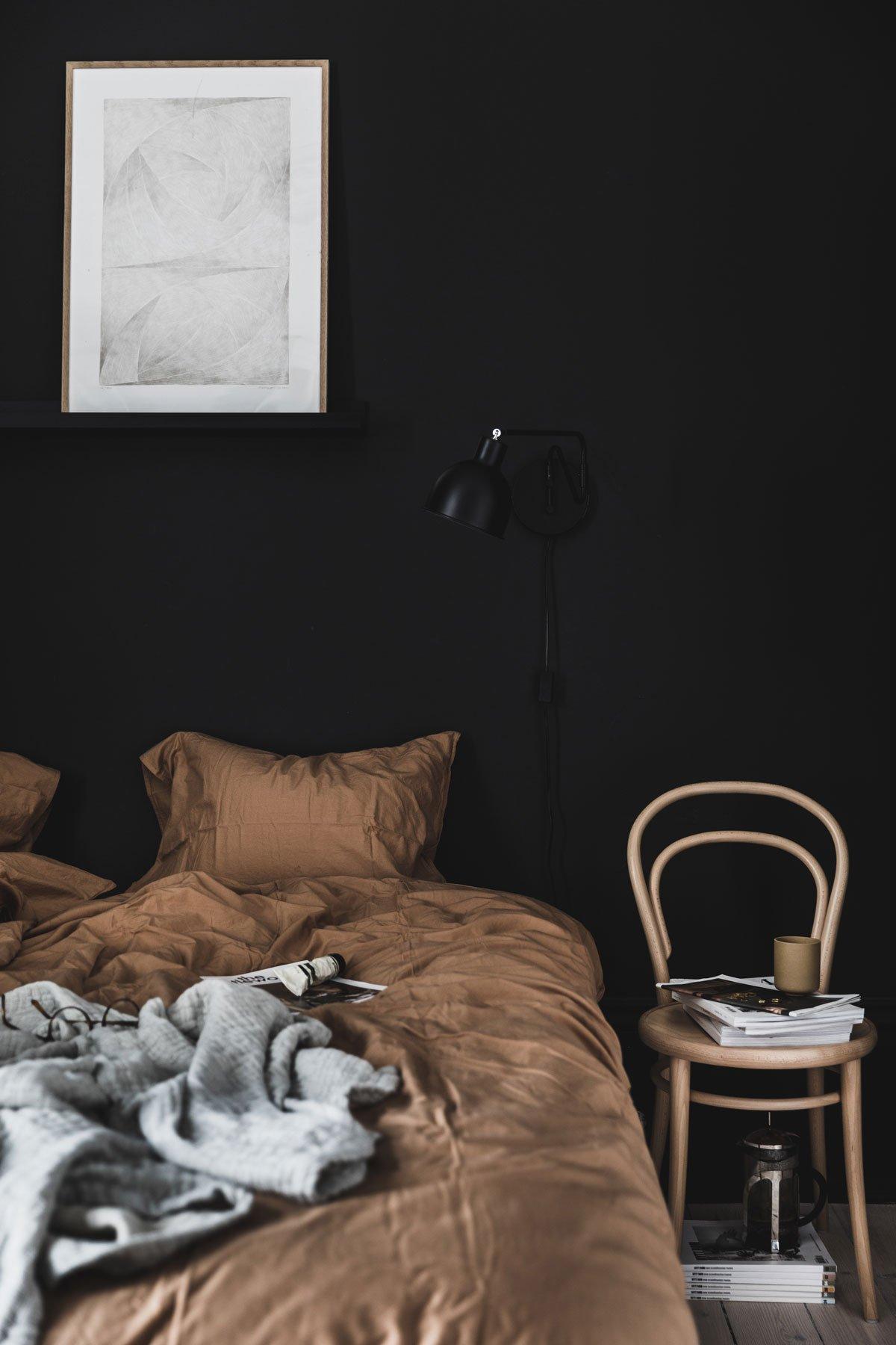 bedroom cozy hygge black