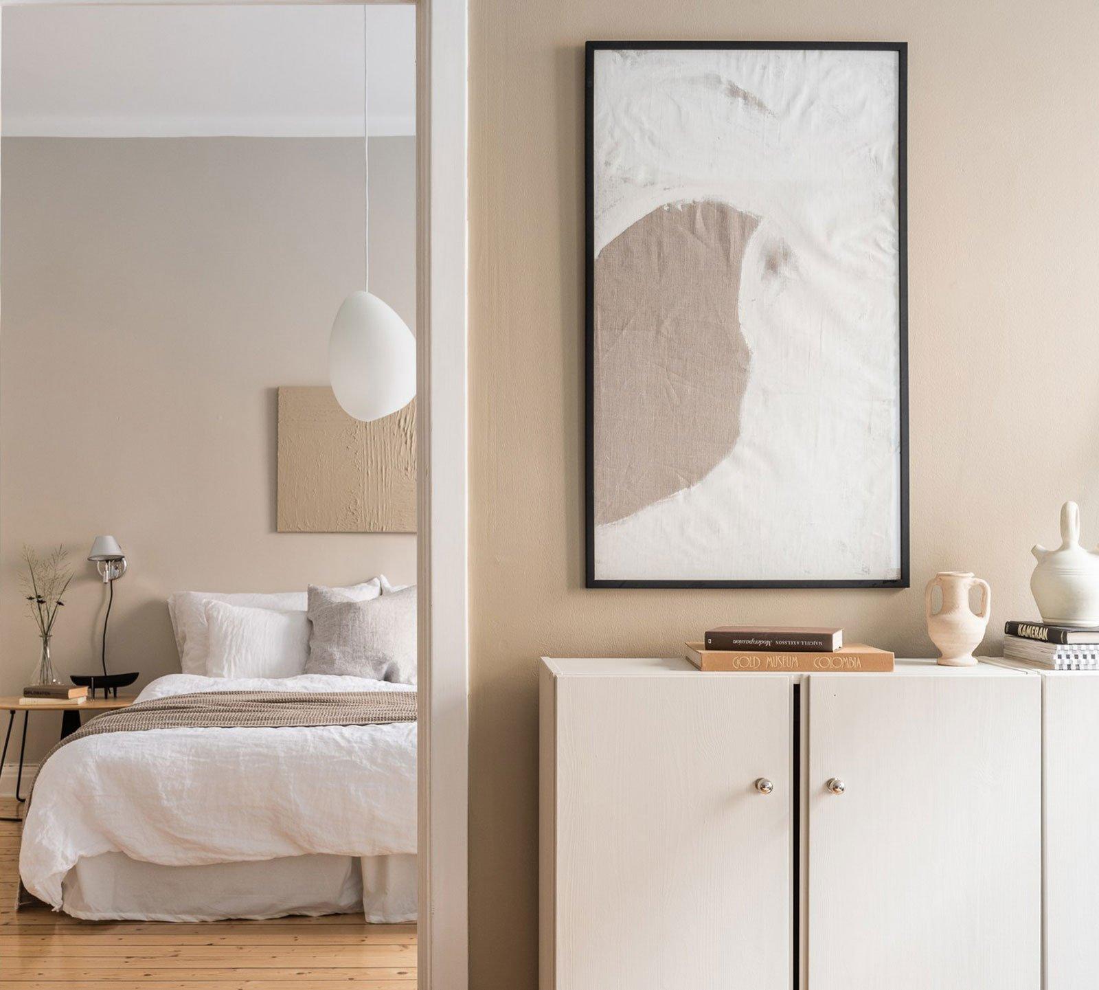 beige bedroom hygge warm