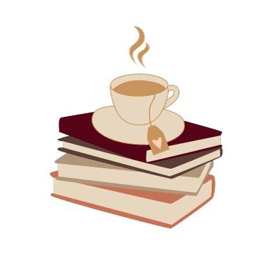 books hygge autumn illustration