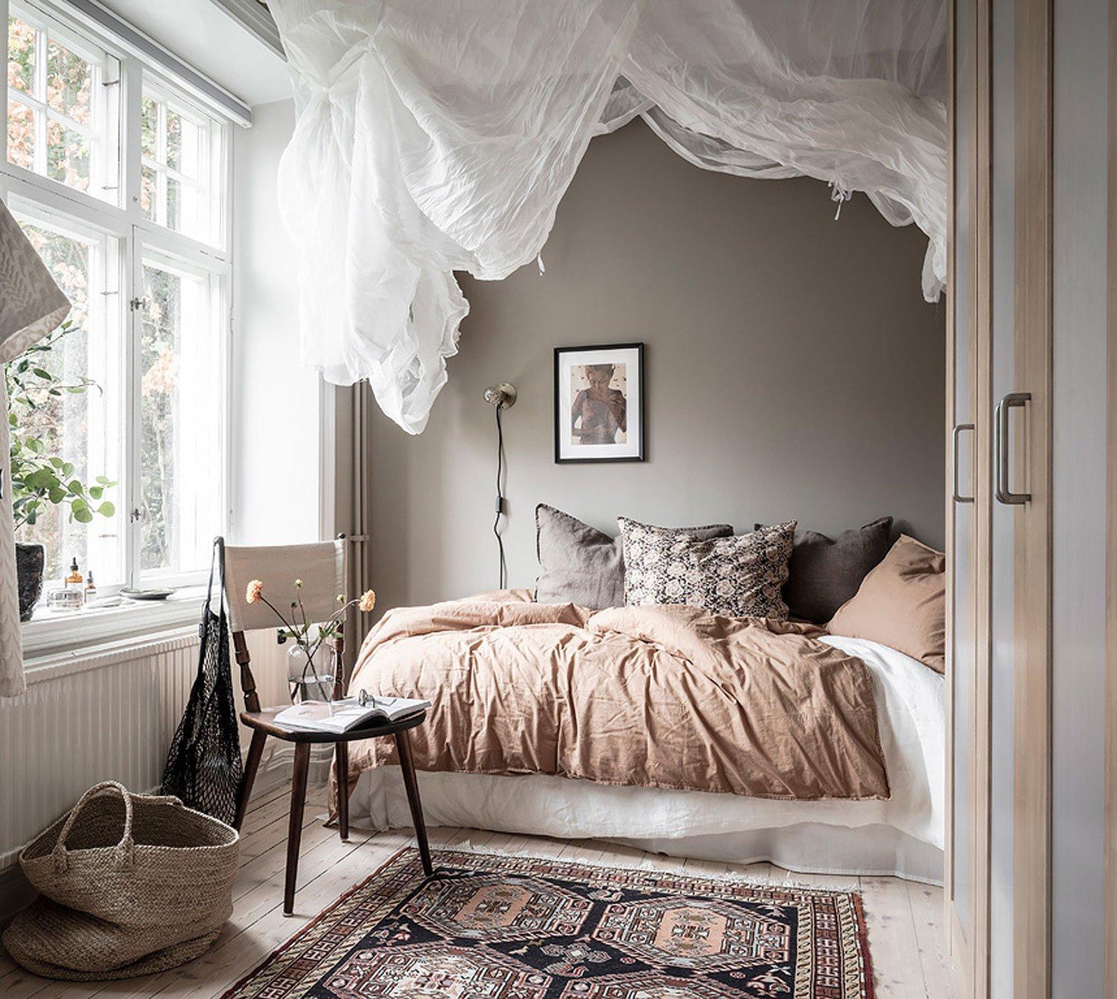 cozy bedroom hygge canopy