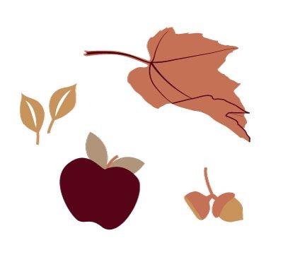 nature hygge autumn illustration