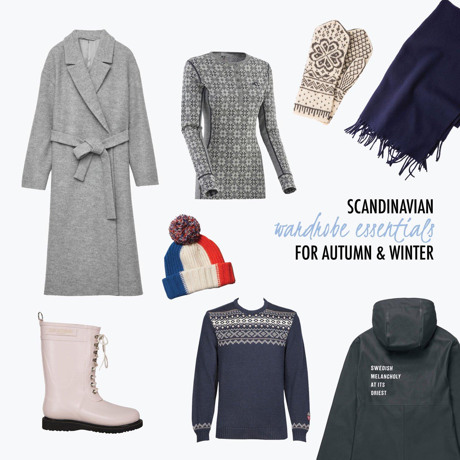 typical scandinavian outfit autumn winter essentials