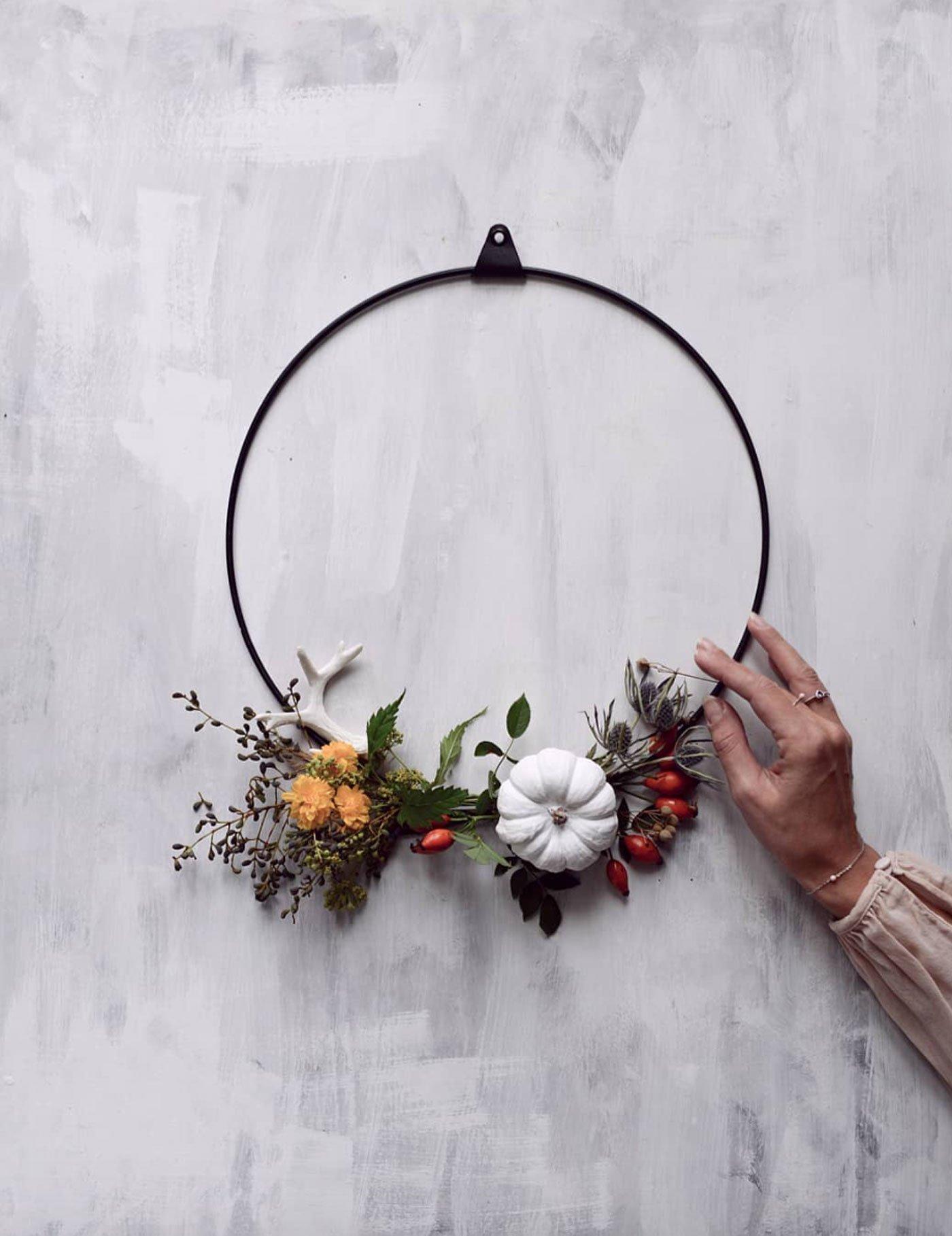 autumn decor DIY idea strups ring