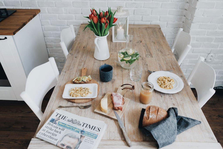 scandinavian apartment prague airbnb breakfast