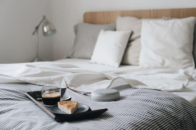 scandinavian apartment prague airbnb speaker