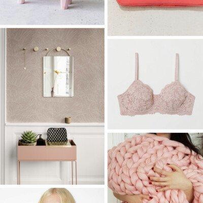 scandinavian pink inspiration moodboard