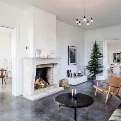 nordic home christmas minimal decor livingroom