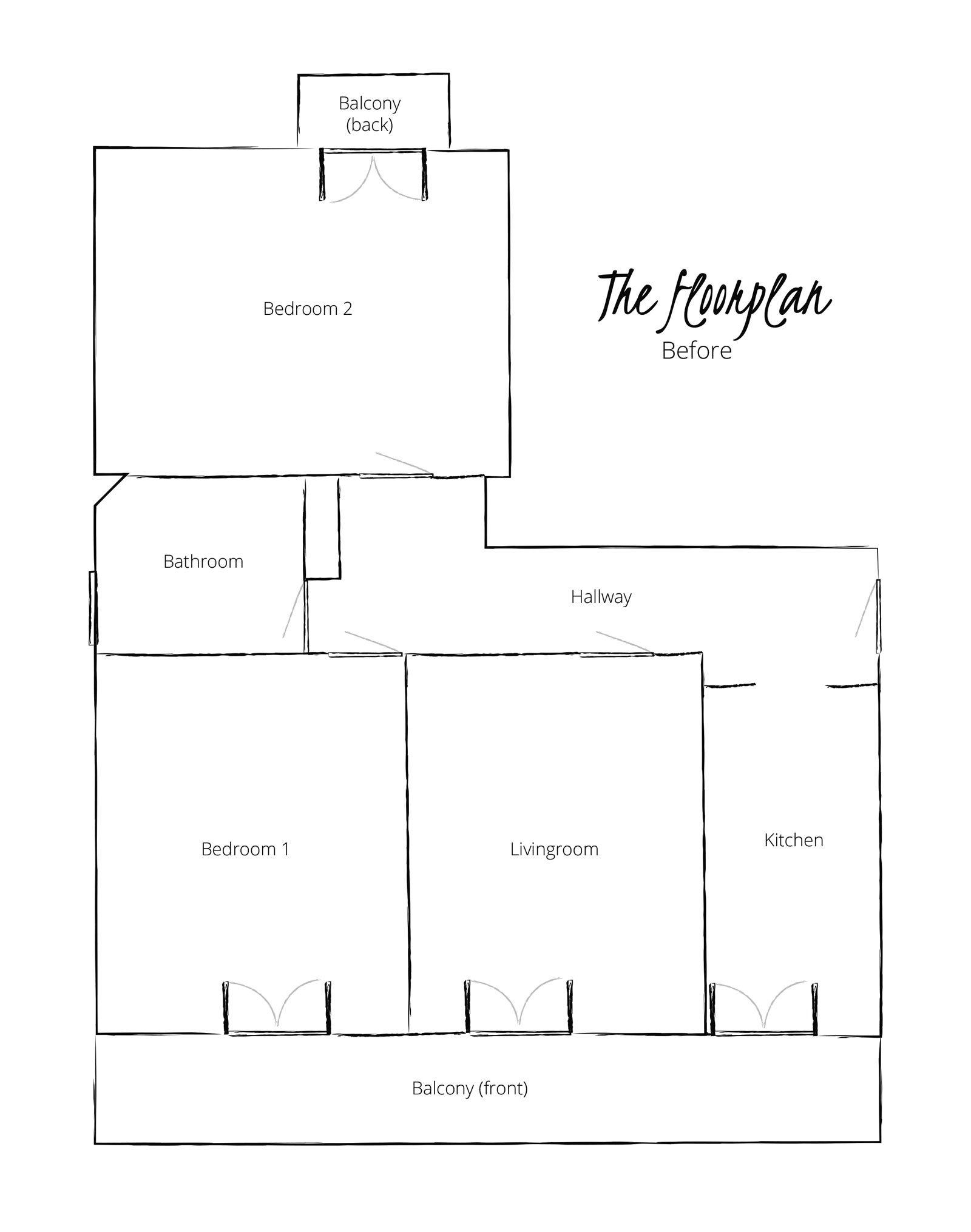 scandinavianfeeling home renovations floorplan before