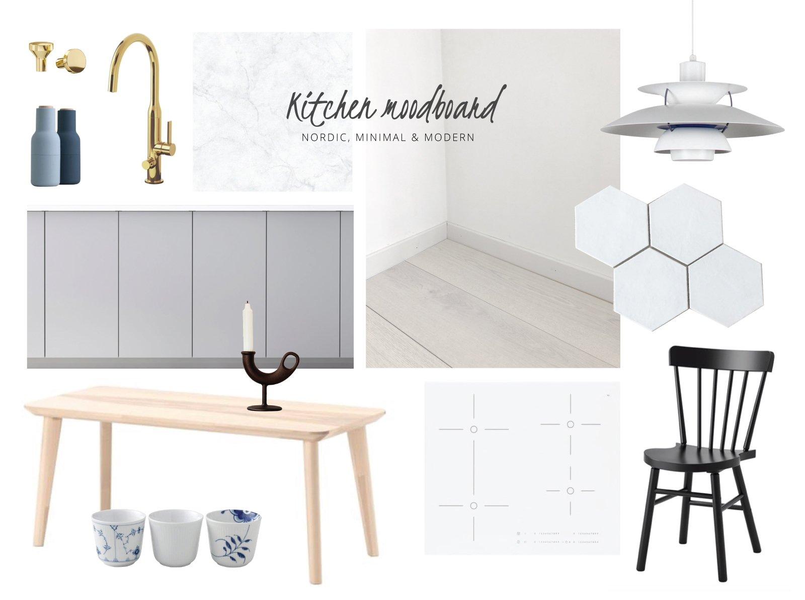 scandinavianfeeling new kitchen moodboard
