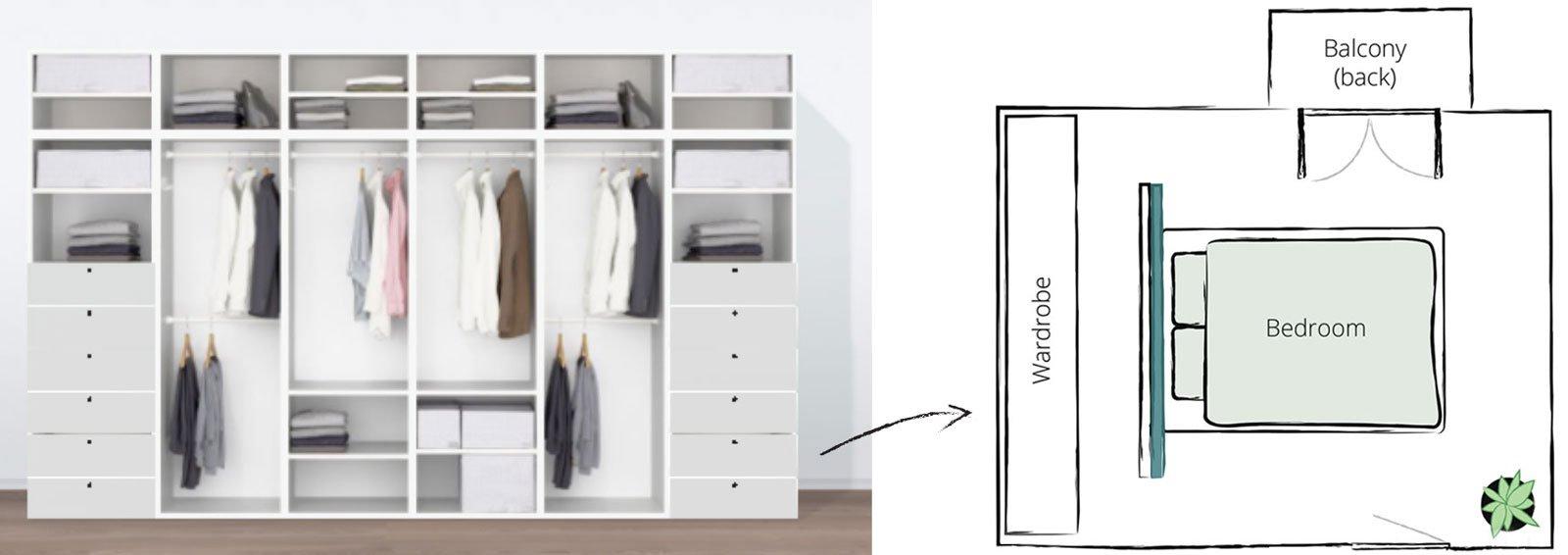 scandinavianfeeling home plan wardrobe bedroom