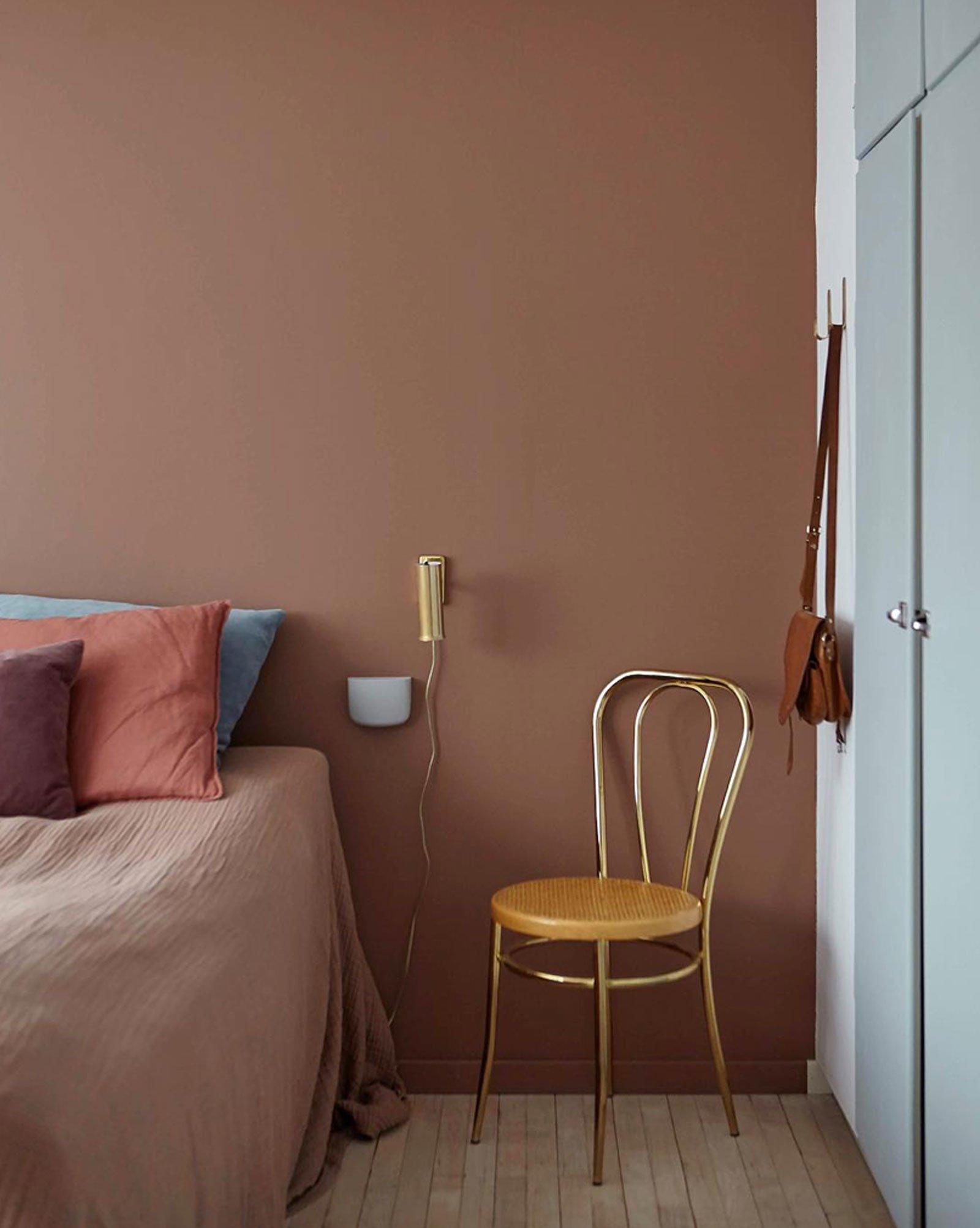 terracotta bedroom calm cozy scandinavian