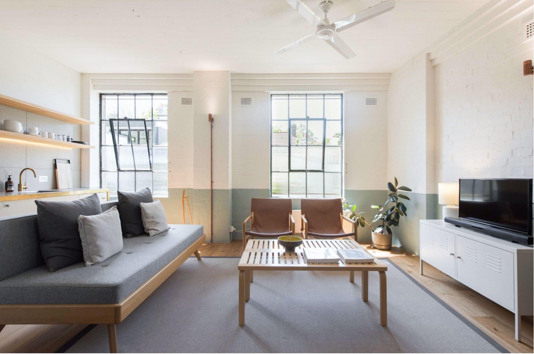 scandinavian apartment sydney airbnb living