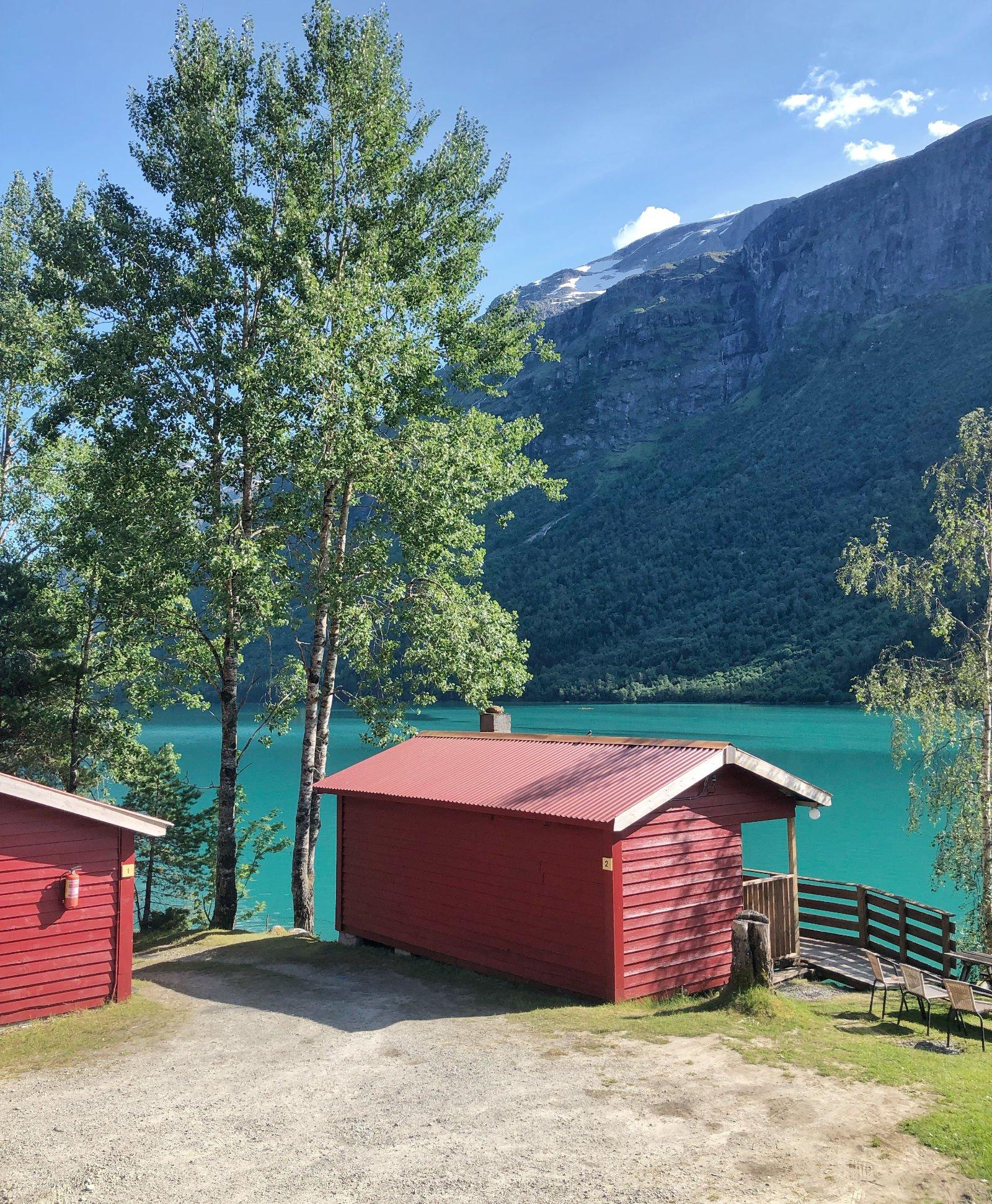 travel norway budget cabin idyllic loen