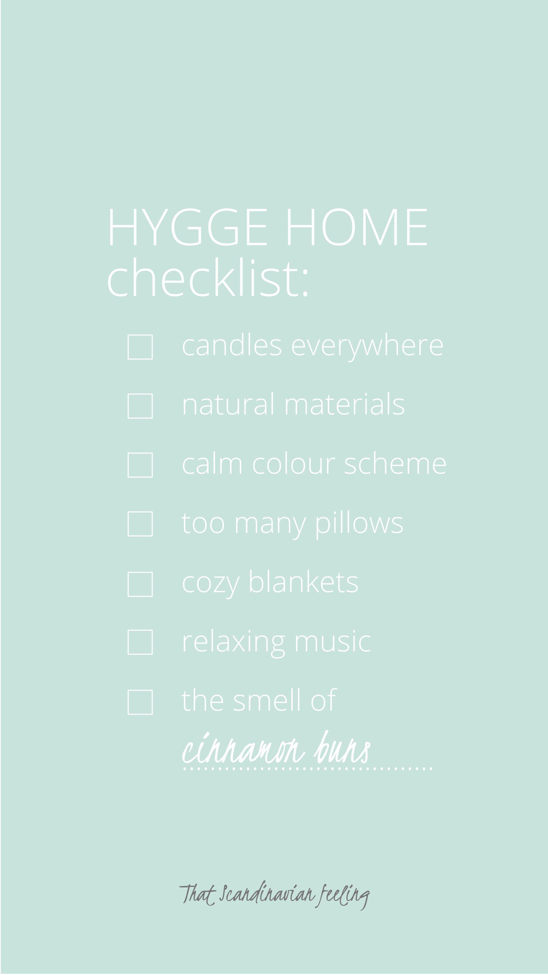 hygge checklist thatscandinavianfeeling