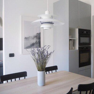 lavender calm home scandinavian feeling kitchen