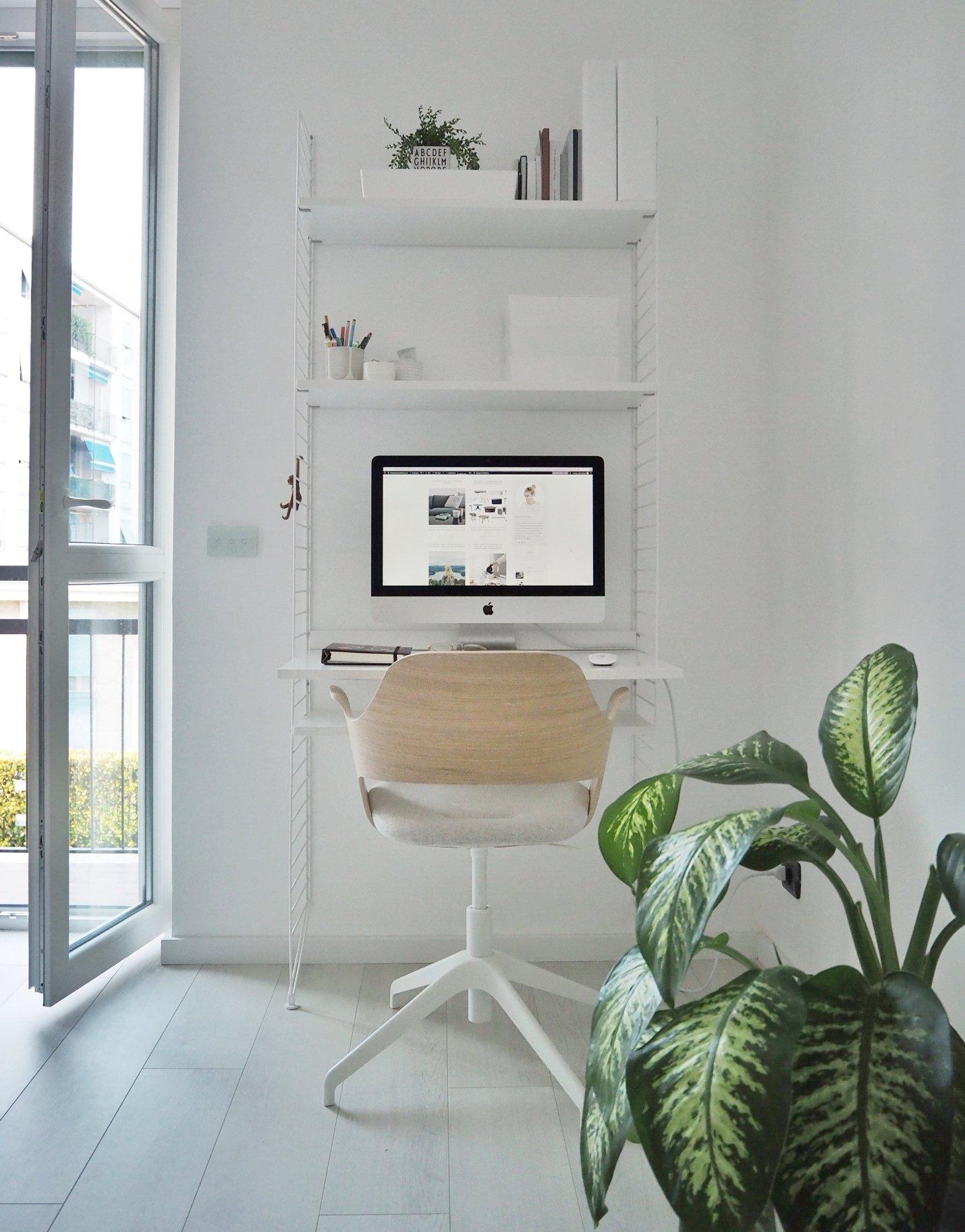 productivity calm work space stringshelf