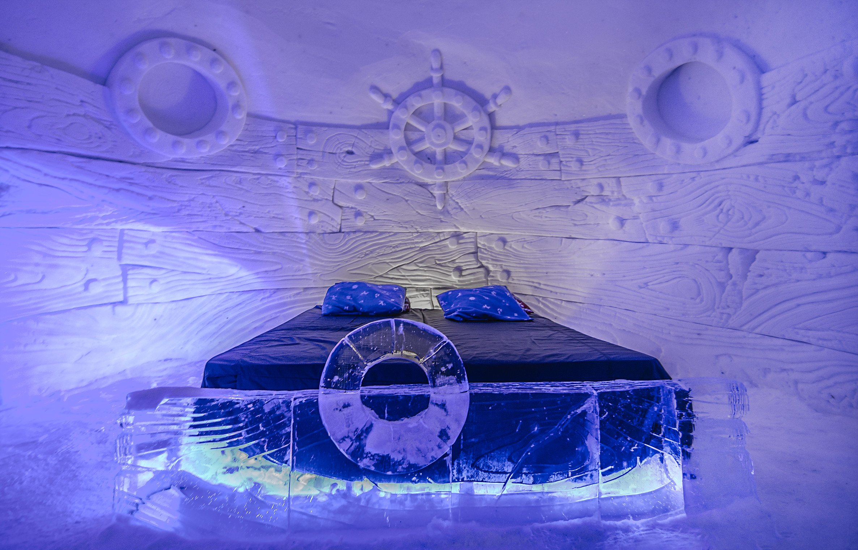 amazing norway travel snow hotel bed