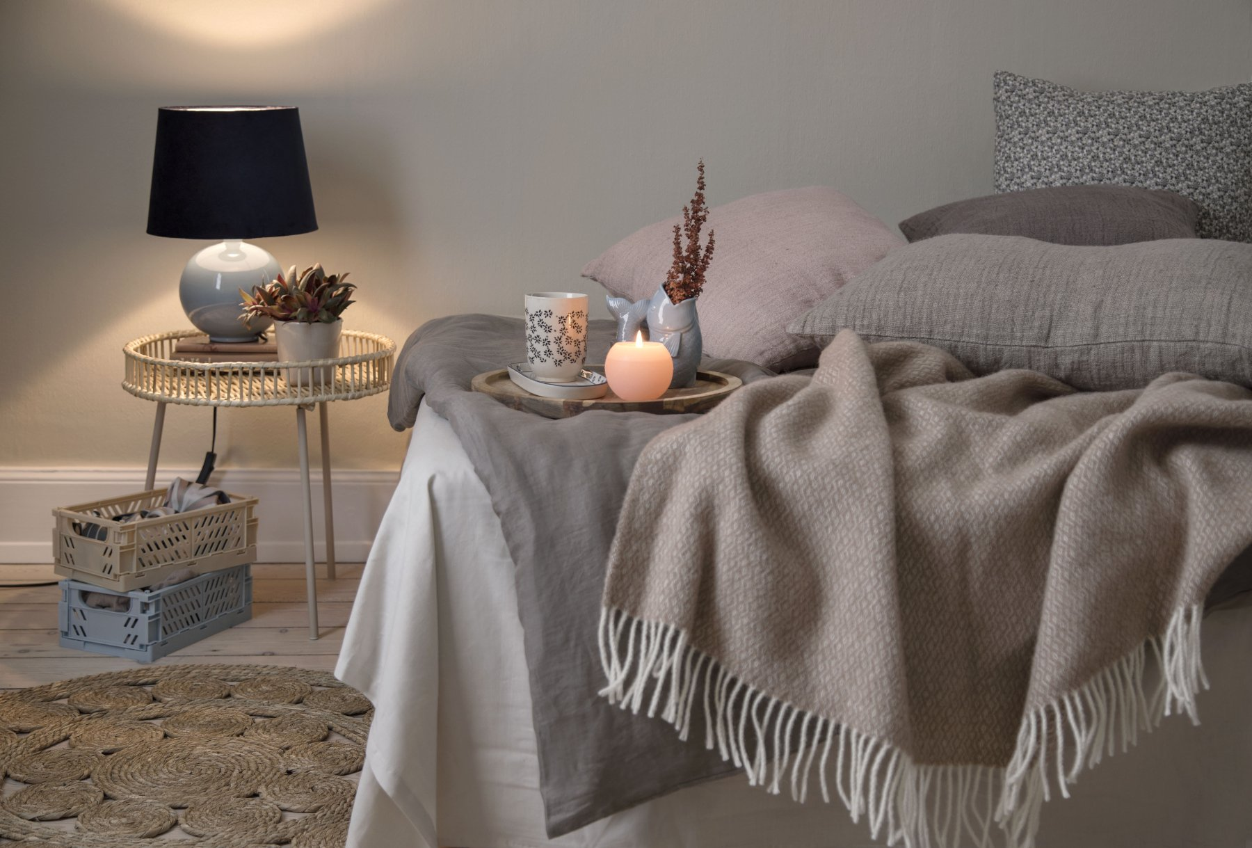SostreneGrene hygge moment bedroom cozy
