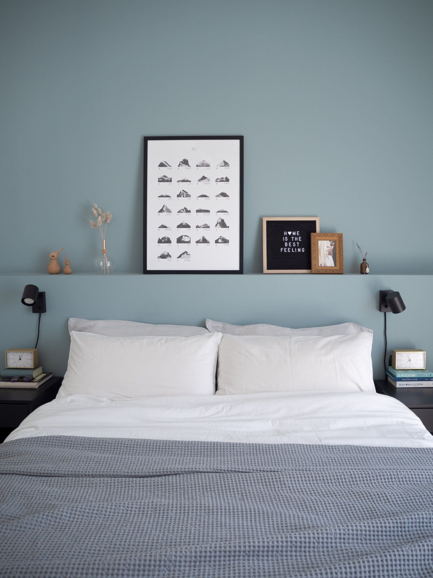 That Scandinavian Feeling Home Tour bedroom bed wall