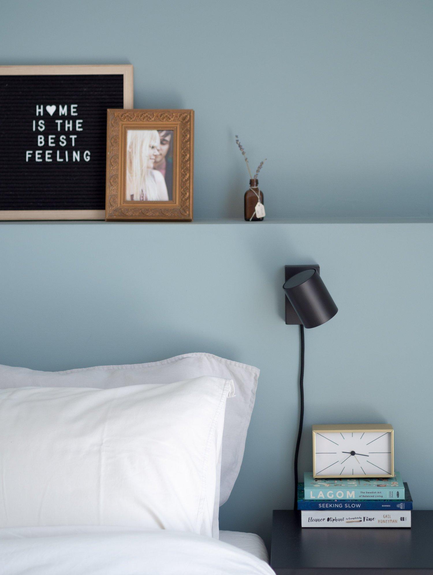 That Scandinavian Feeling Home Tour bedroom bedsidetable details