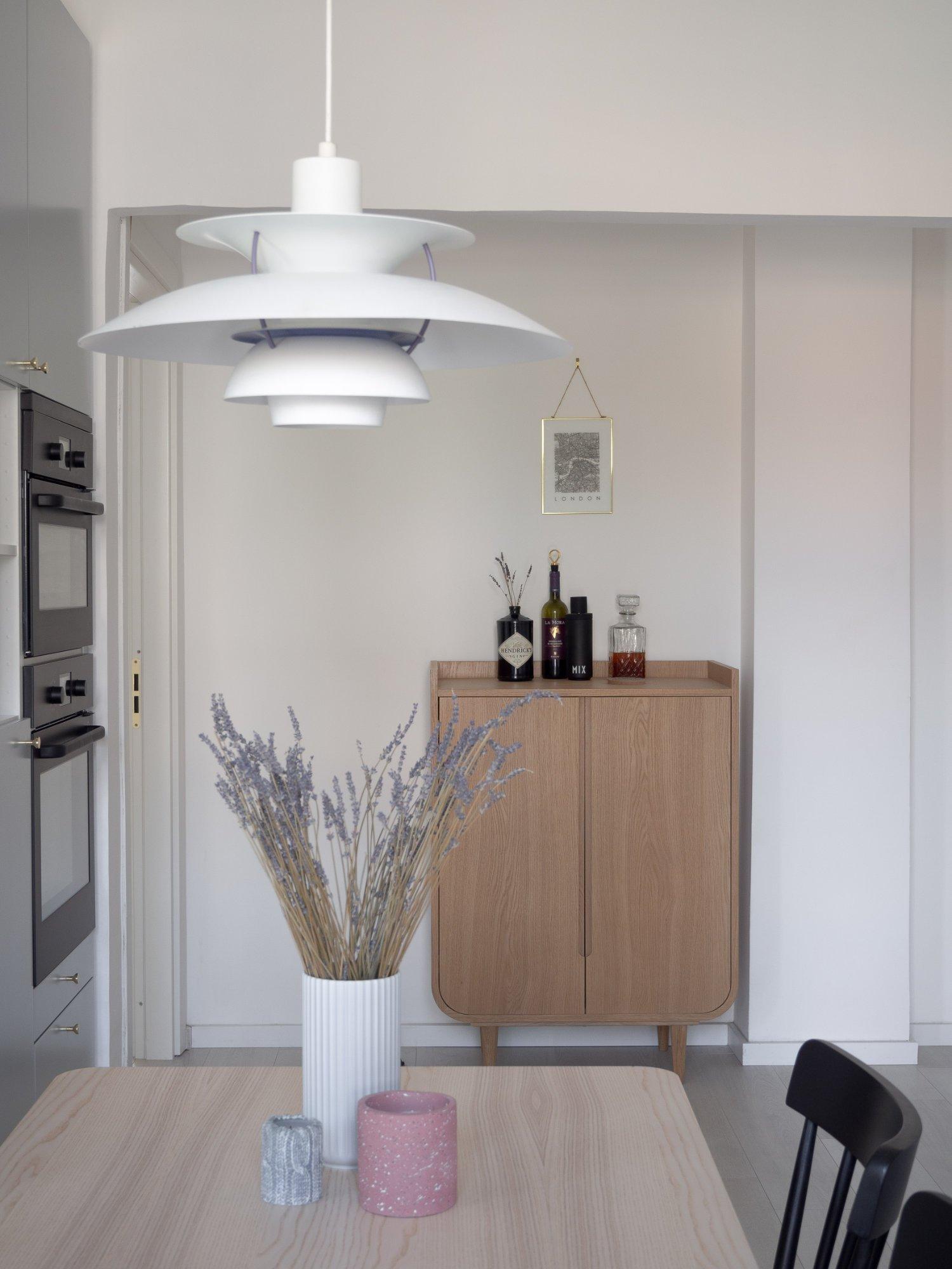 That Scandinavian Feeling Home Tour kitchen bar cabinet