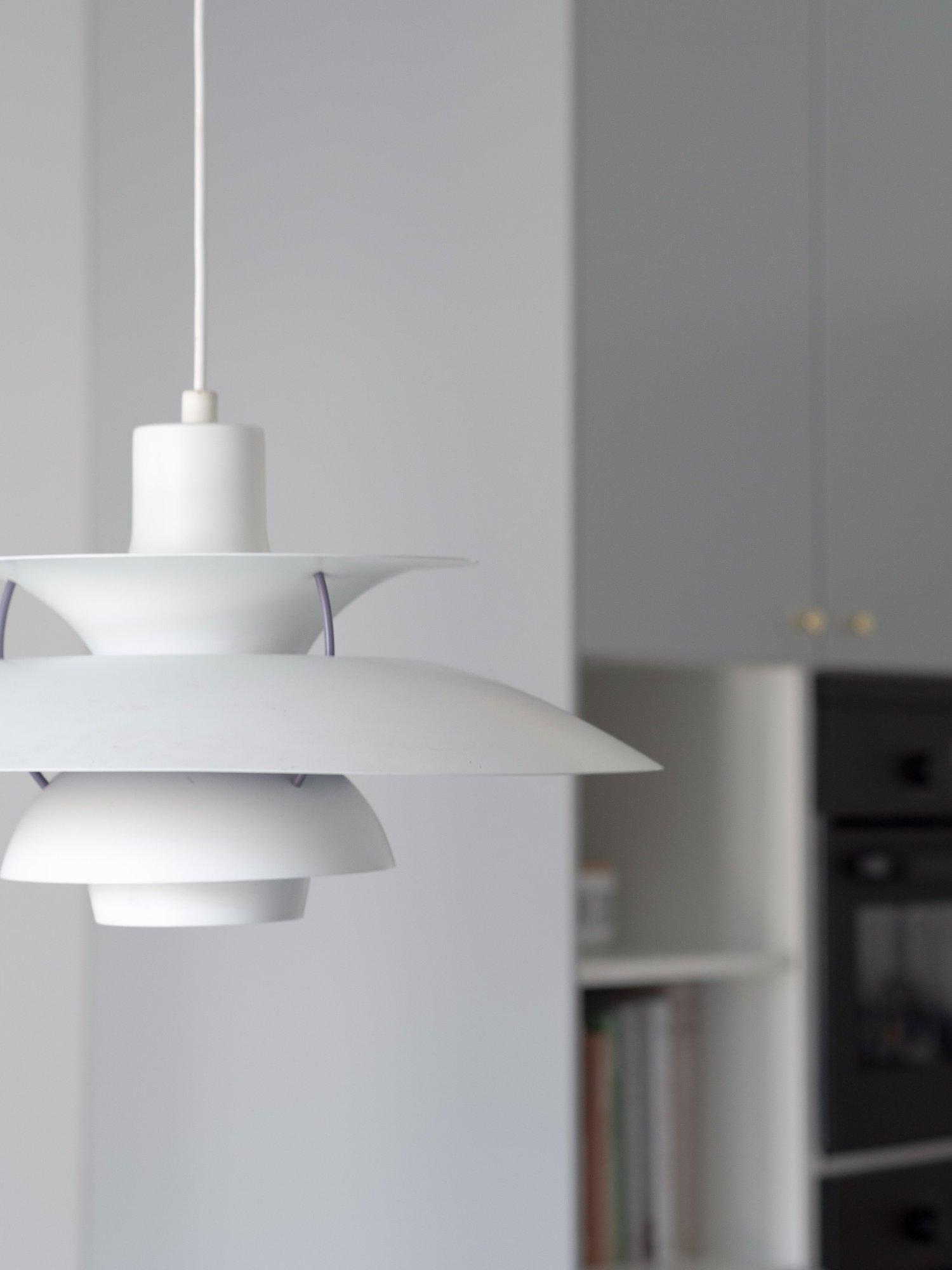 That Scandinavian Feeling Home Tour kitchen lamp