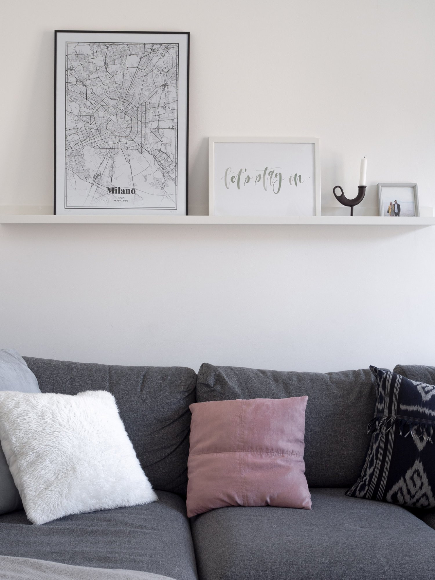 That Scandinavian Feeling Home Tour livingroom wall art