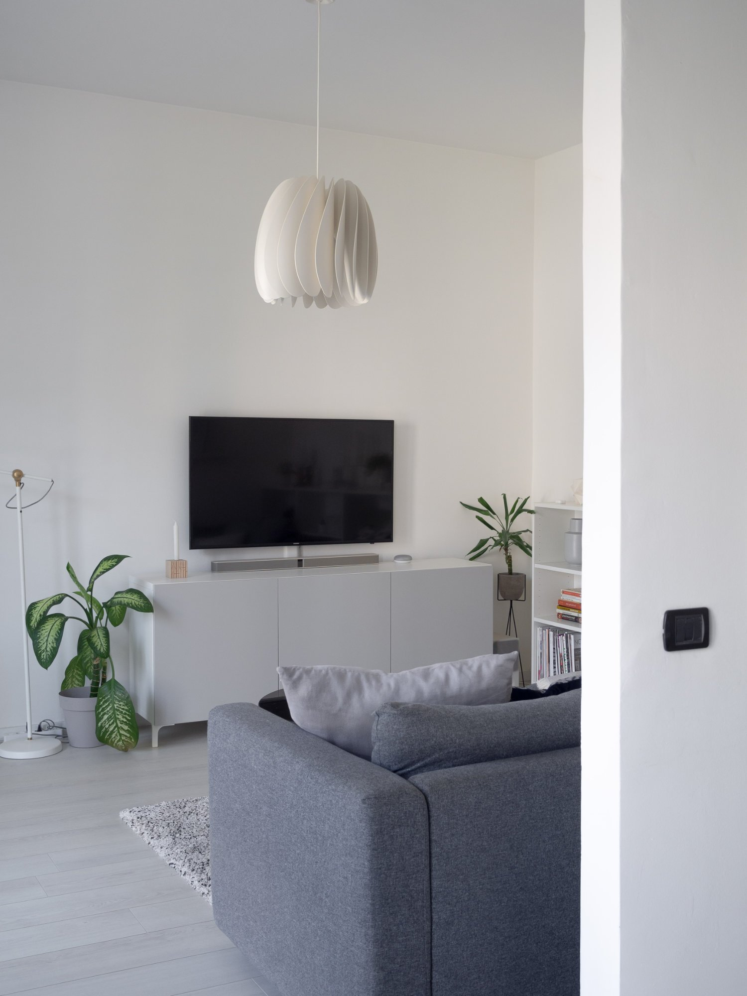 That Scandinavian Feeling Home Tour livingroom wall tv