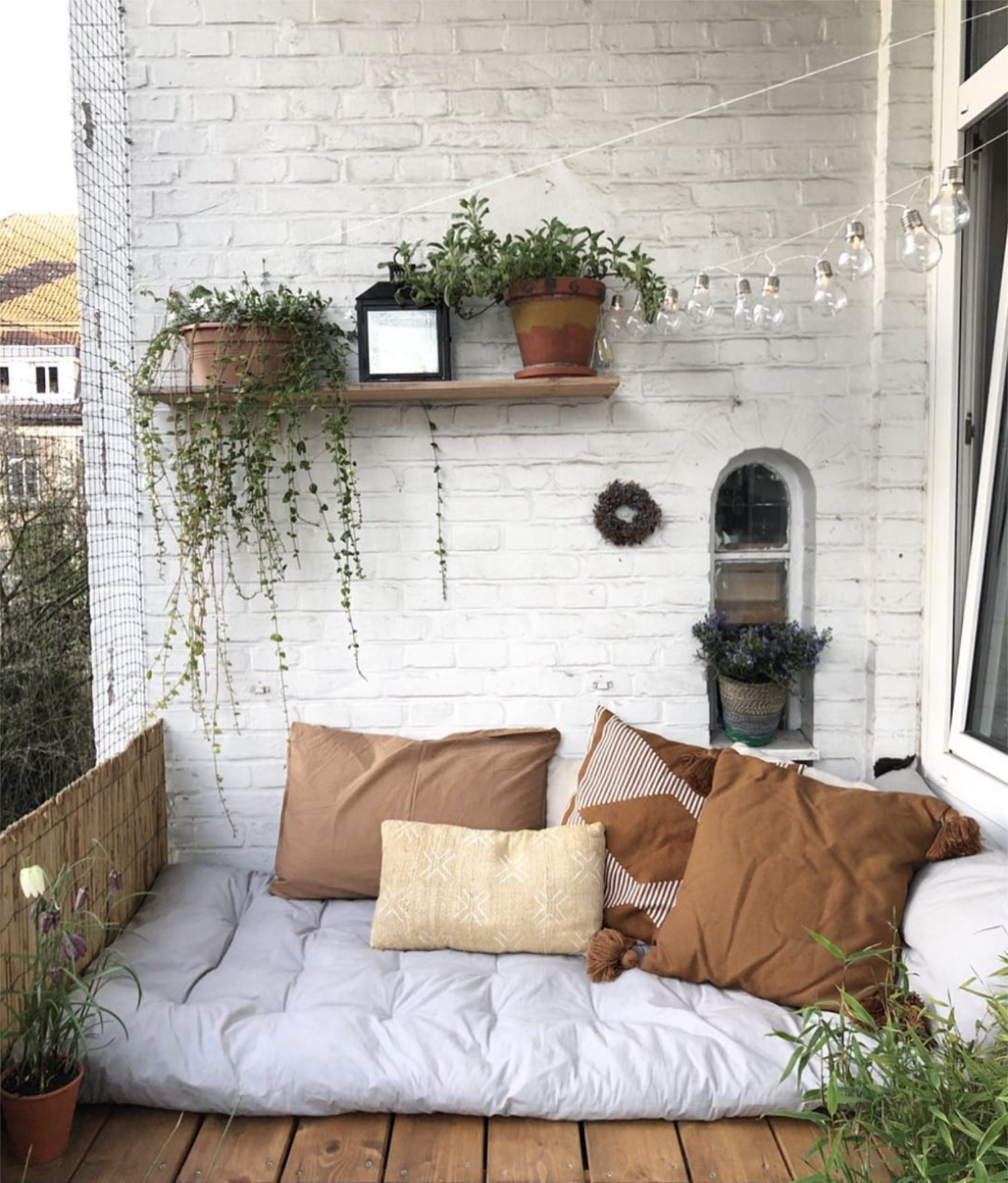 Cozy Scandinavian Outdoor Balcony