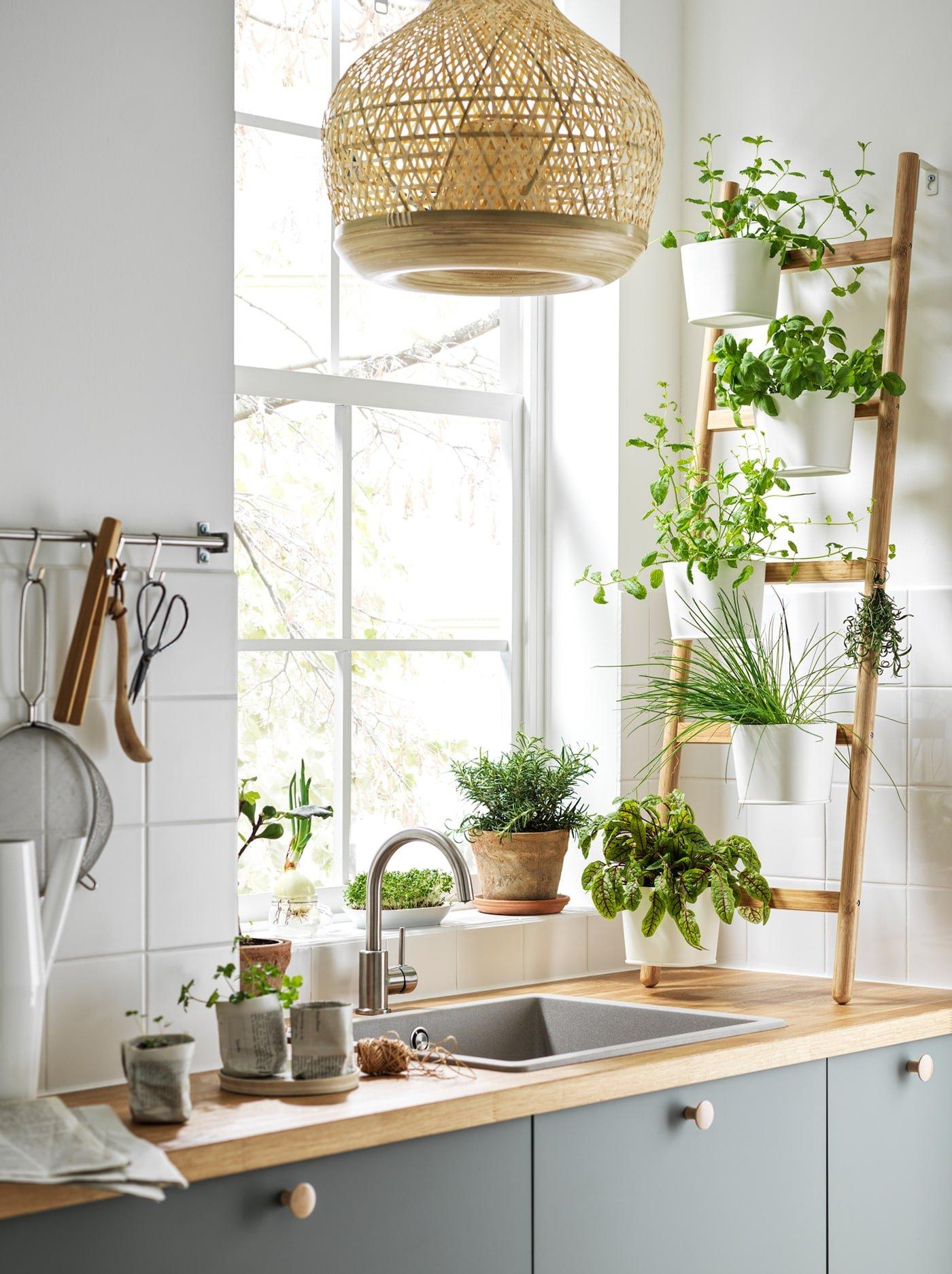 scandinavian interior decor tips ikea planter kitchen herbs