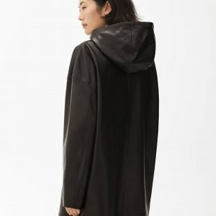 cozy leather jacket scandinavina style fashion autumn nordic