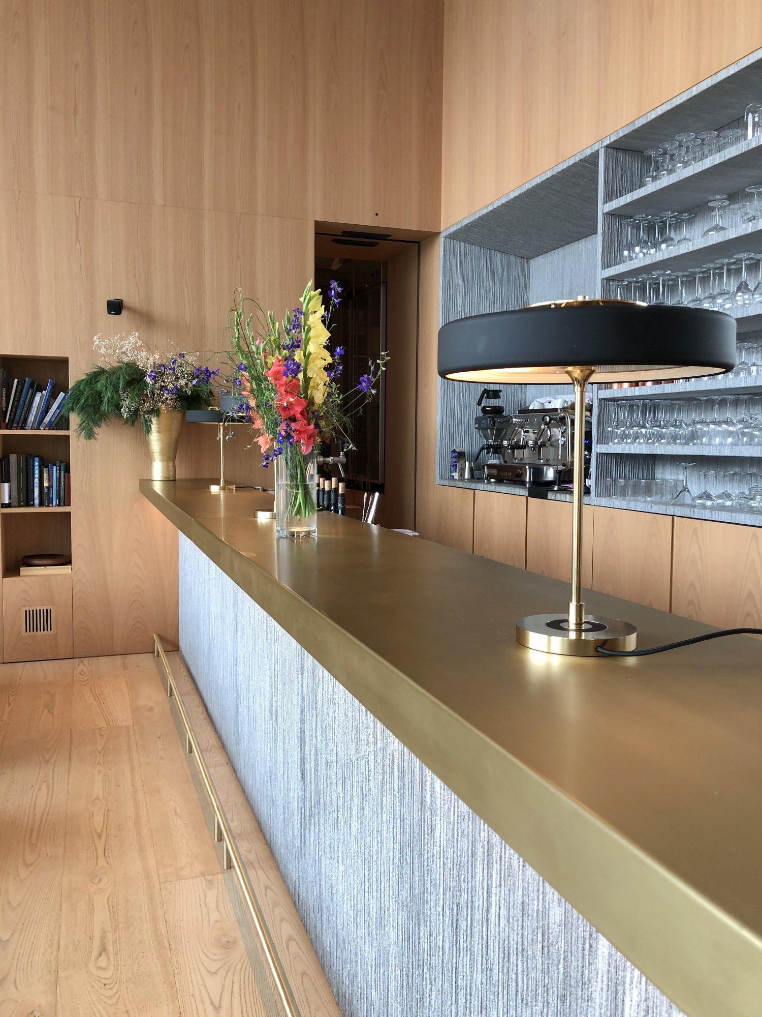 scandinavian design hotel dolomites italy bar details