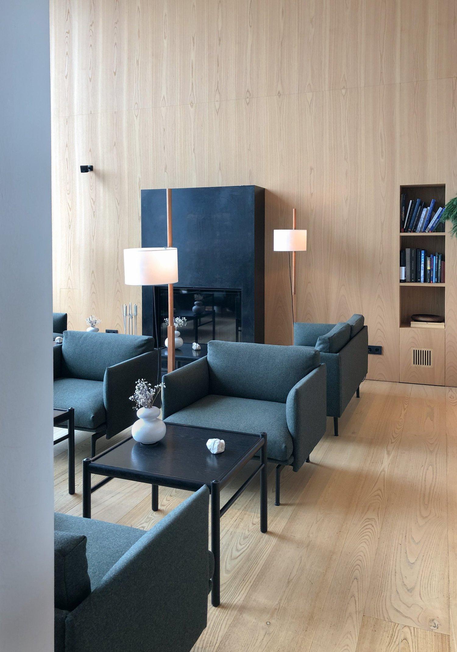 scandinavian design hotel dolomites italy bar