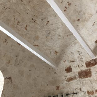 scandinavian feeling trullo puglia italy interior roof