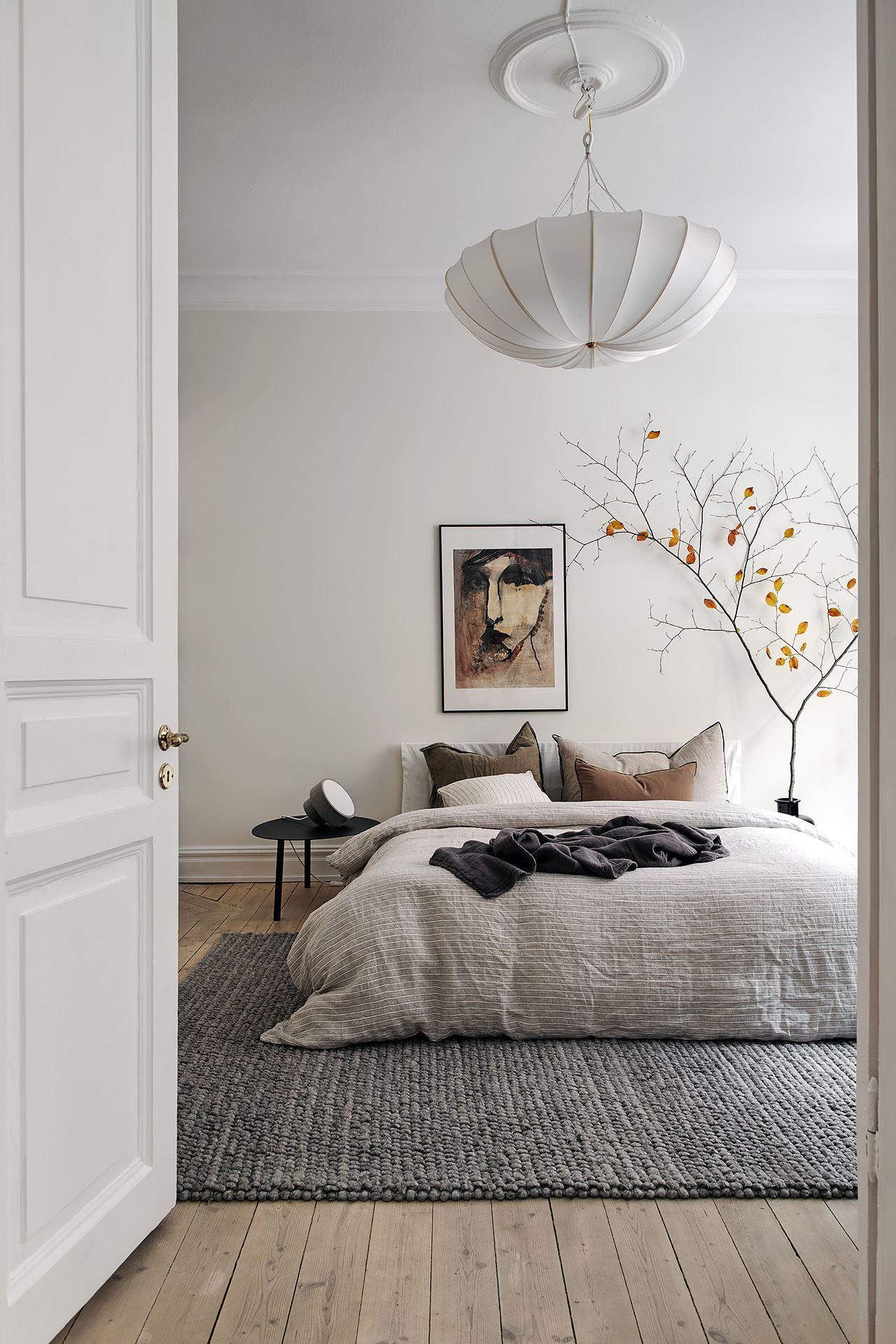 scandinavian feeling bedroom cozy hygge autumnal 1